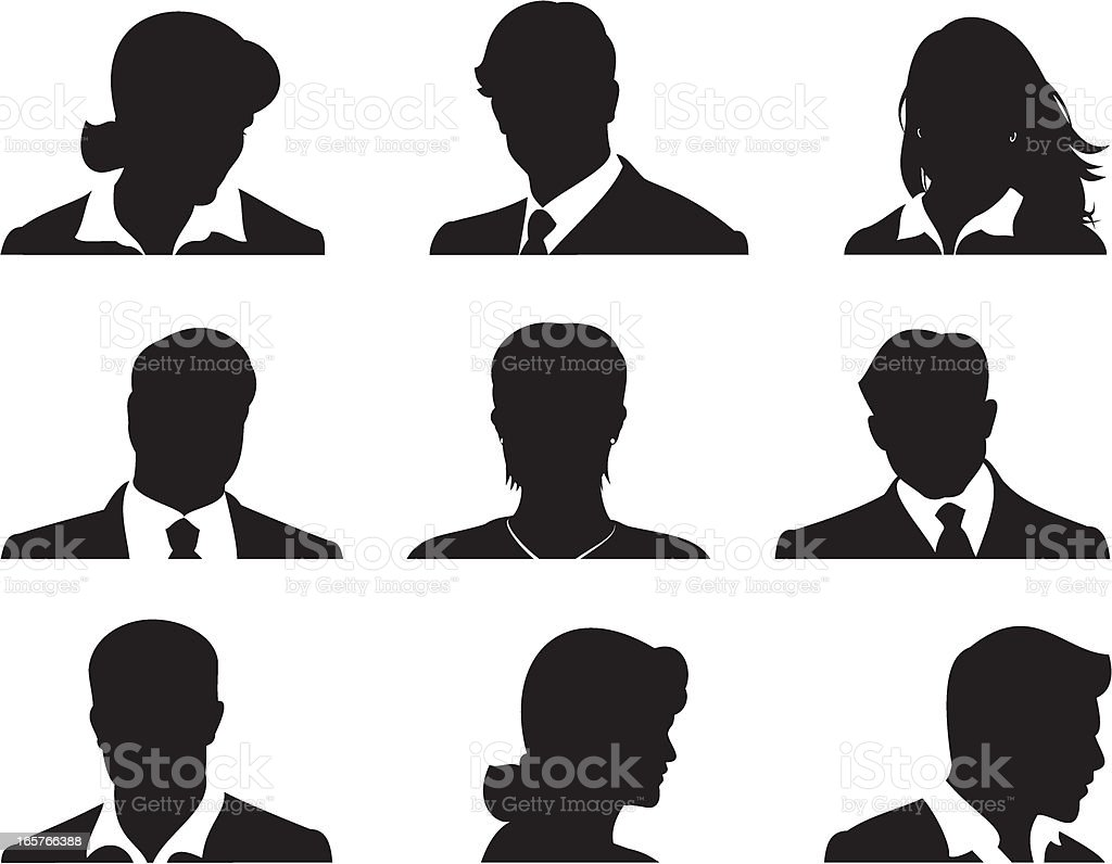 Business Team vector art illustration