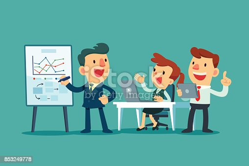 Gm Capital One >> Business Team Working Together In Office Stock Vector Art & More Images of Adult 853249778 | iStock