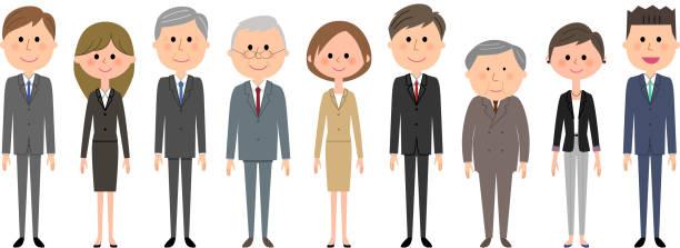 ビジネス チームは、スーツの人 - オフィスワーク点のイラスト素材/クリップアート素材/マンガ素材/アイコン素材