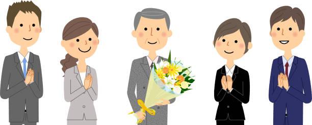 ビジネス チームは、スーツの人 - 花束点のイラスト素材/クリップアート素材/マンガ素材/アイコン素材