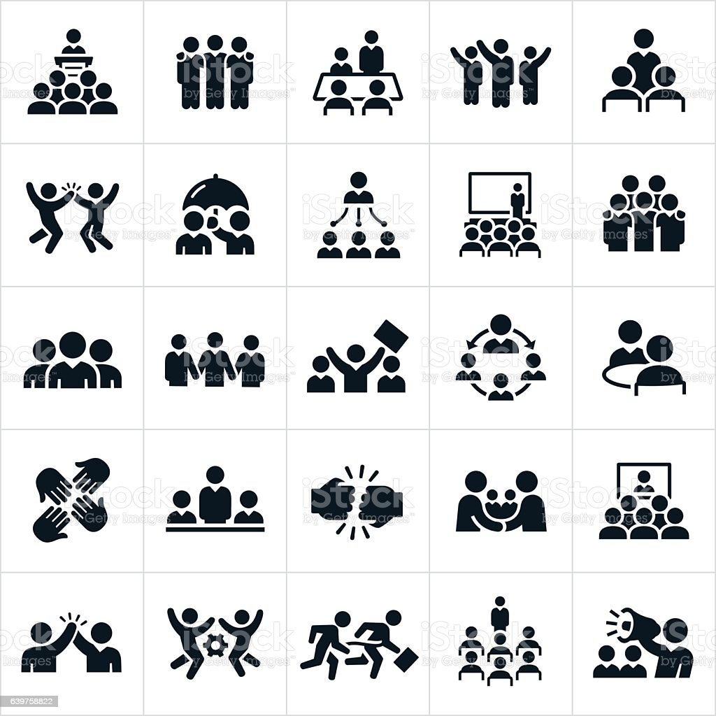 Business Teams Icons vector art illustration