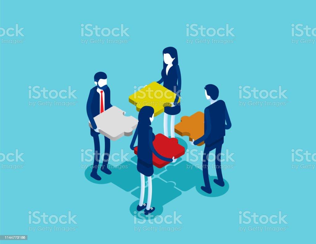 Business teamwork. Concept business vector illustration, Team Event,...