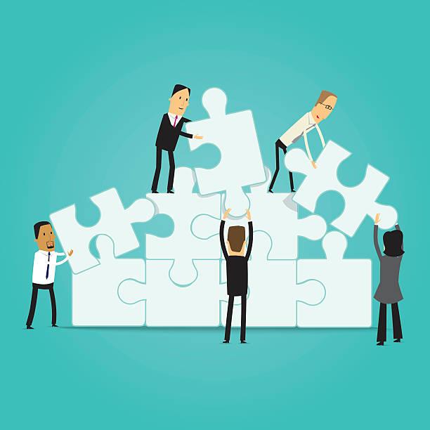 Business teamwork illustration vector art illustration