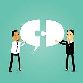 Business teamwork illustration-Group of cartoon business people