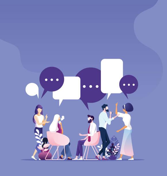 ilustraciones, imágenes clip art, dibujos animados e iconos de stock de trabajo en equipo empresarial reunión de ideas y concepto de trabajo - training