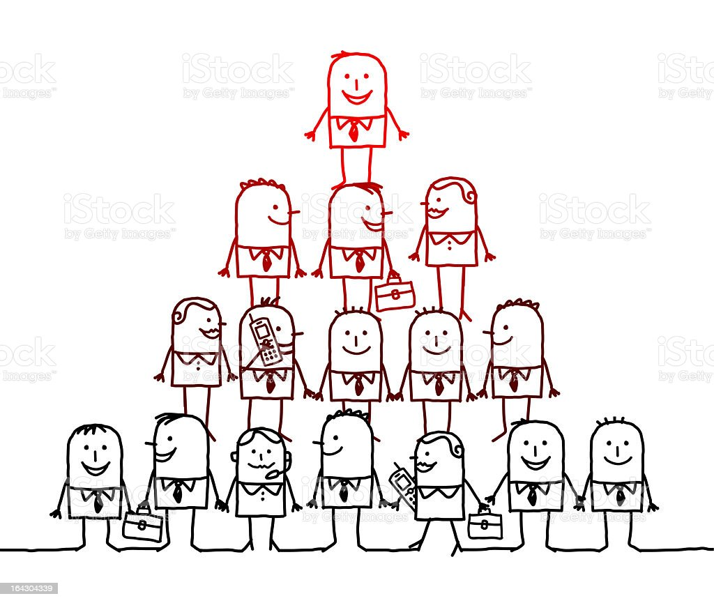 business teamwork pyramid & leadership royalty-free stock vector art