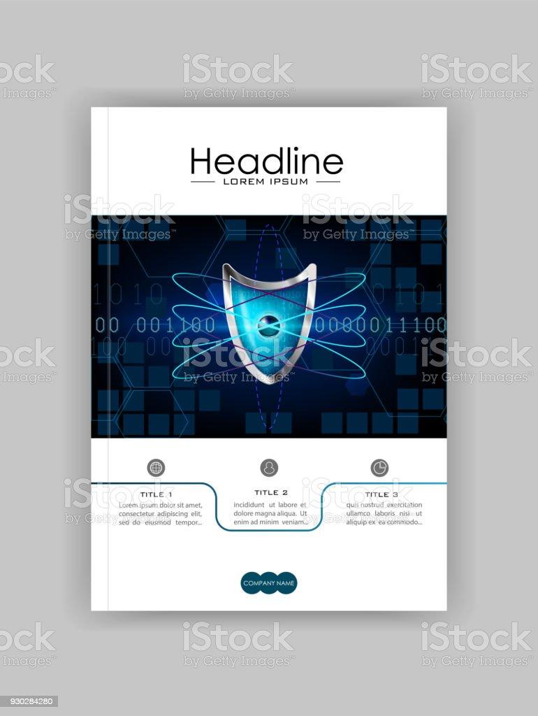 A4 Negocios Tecnología Libro Plantilla De Diseño Cubierta Escudo De ...