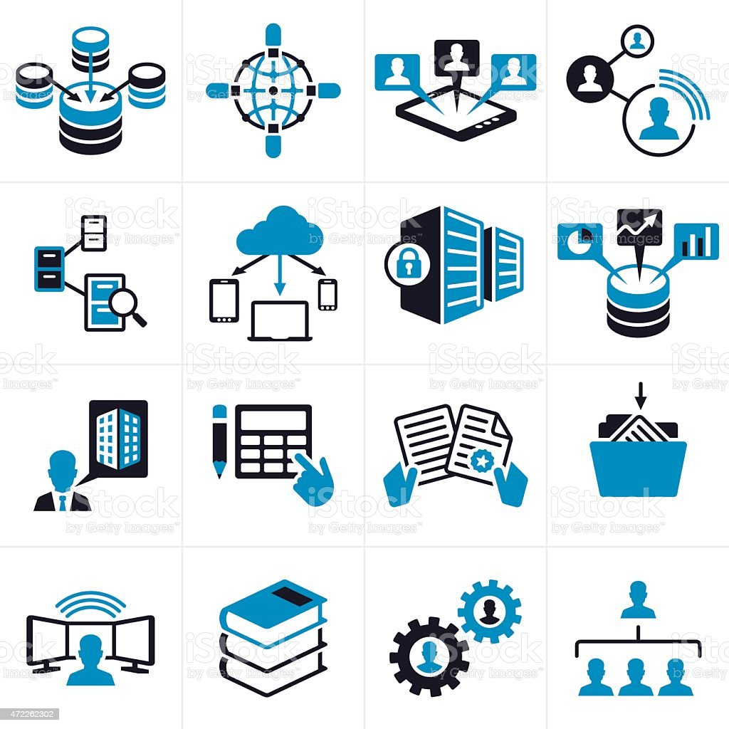 icons technology business symbols vector istock icon symbol data vectors workflow illustration deployment sales management manager teamwork royalty