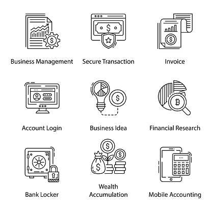 Business Technology Line Icons Pack