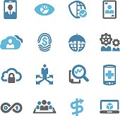 Business Technology Trends Icons - Conc Series