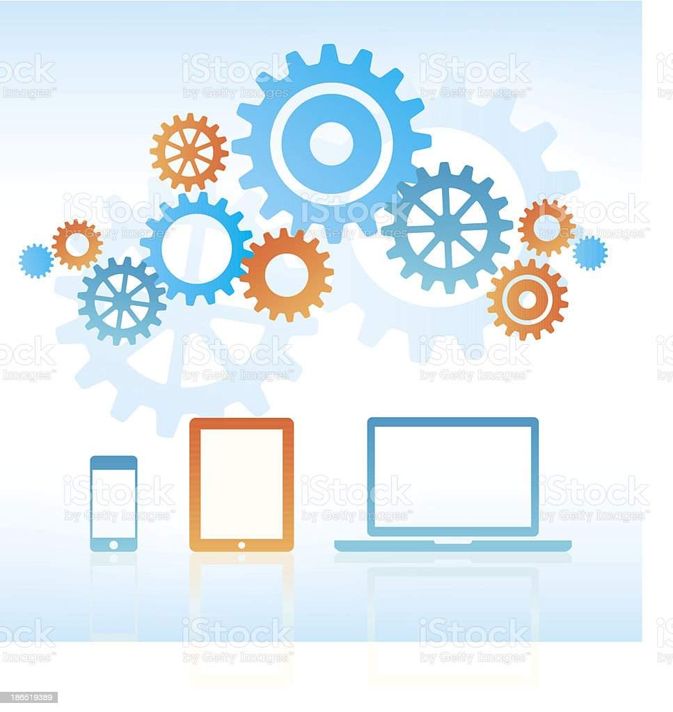 Business Technology vector art illustration