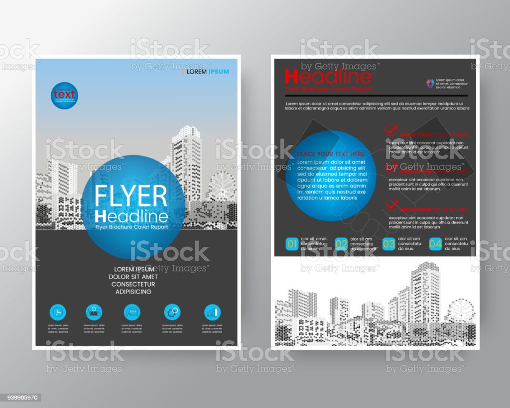 business templates creative design abstract blue circle brochure annual report cover flyer poster design layout