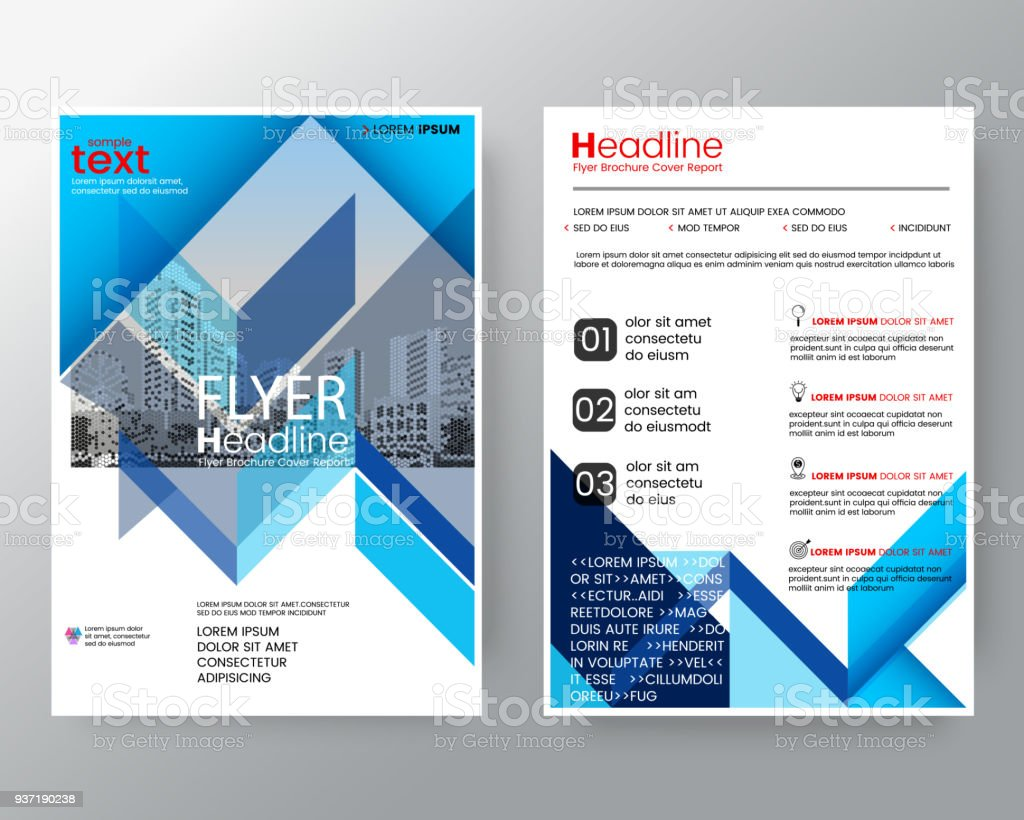 business templates creative design abstract blue diagonal line brochure annual report cover flyer poster design