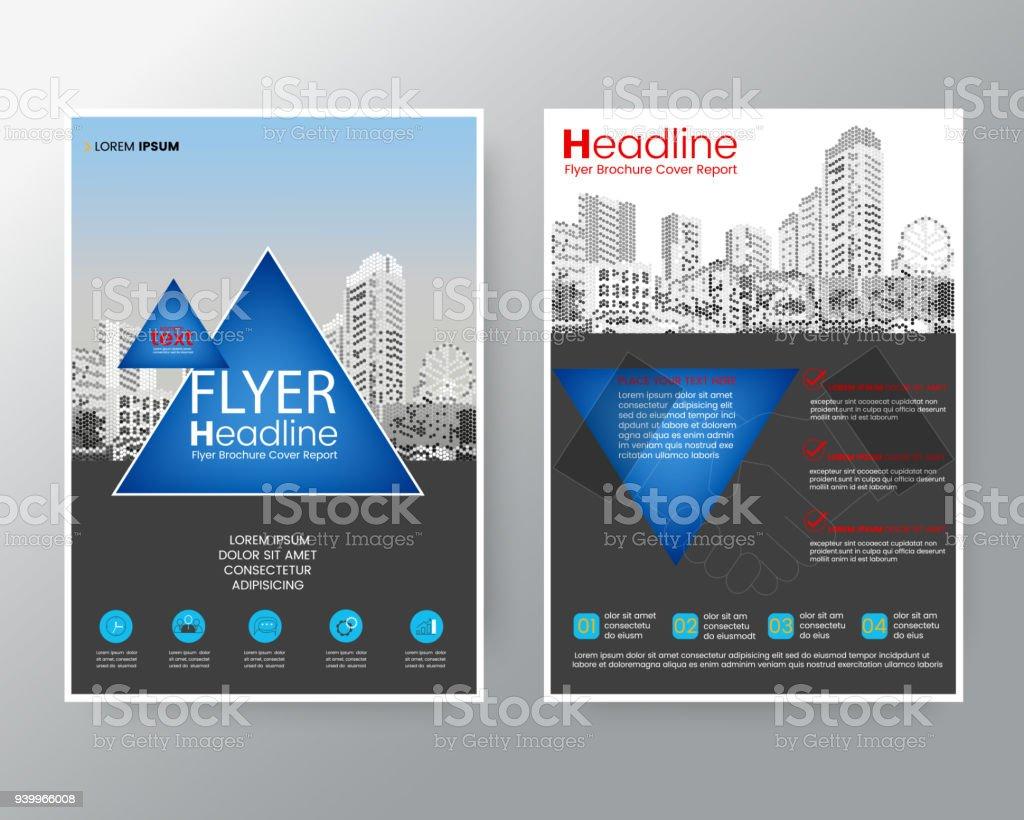 Businessvorlagen Kreative Design Abstrakte Blaues Dreieck Broschüre ...