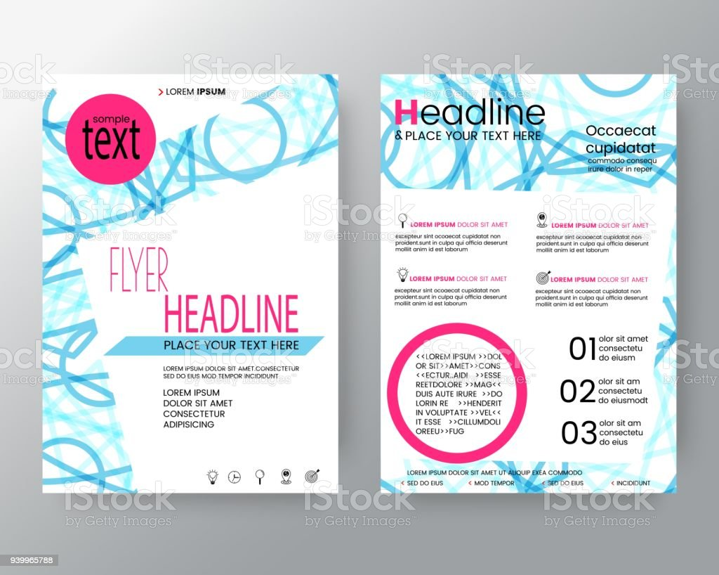 Business Templates Creative Design Abstract Modern Blue Circle Shape Background For Poster Brochure Flyer