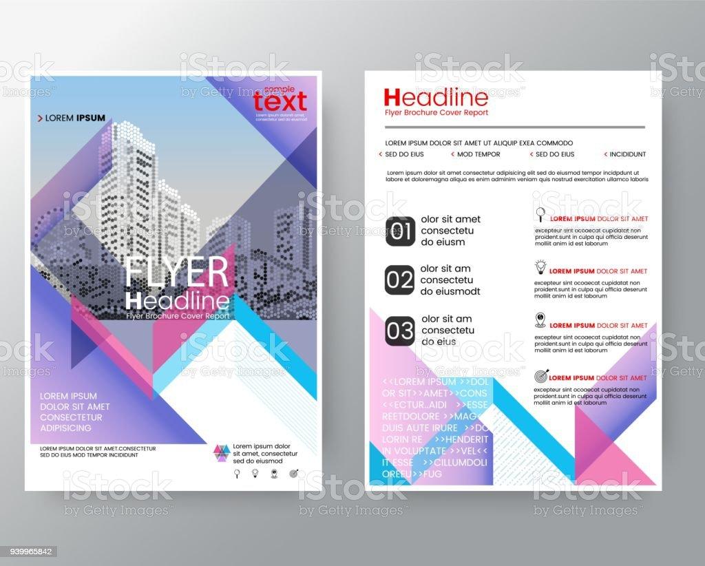 Businessvorlagen Kreative Design Abstrakte Rosa Lila Diagonale ...