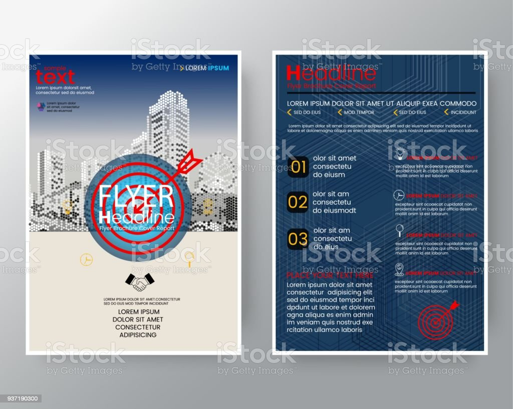 business templates creative design target arrow brochure annual report cover flyer poster design layout vector