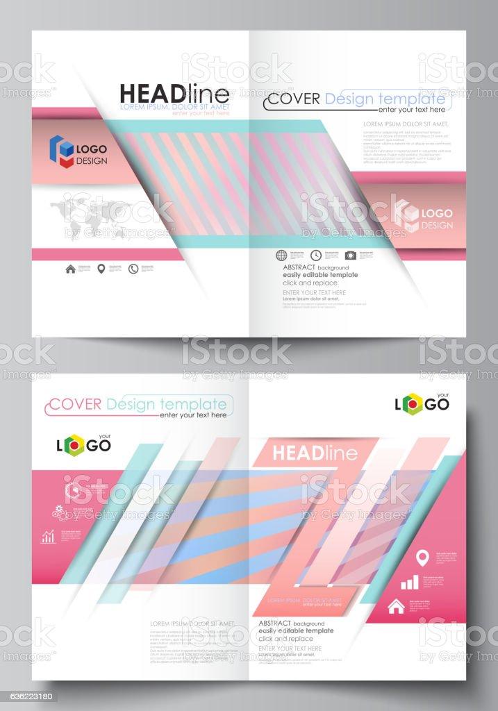 business templates for bi fold brochure flyer booklet or report