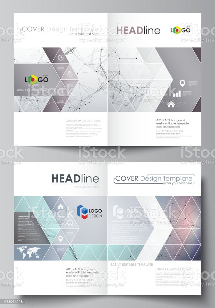 business templates for bi fold brochure flyer cover design template