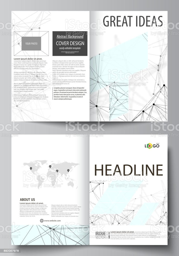 Business Templates For Bi Fold Brochure Flyer Report Cover Design Template Vector