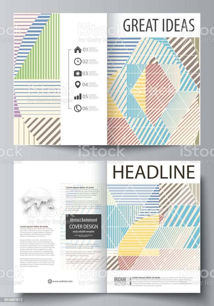 Business Templates For Bi Fold Brochure Magazine Flyer Booklet Cover Template