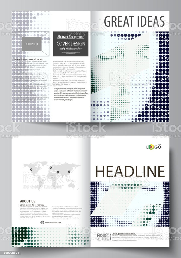Business Templates For Bi Fold Brochure Magazine Flyer Booklet Cover Design Template