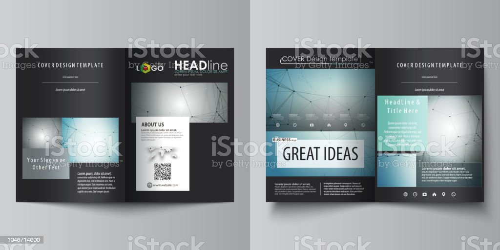 Business Templates For Bi Fold Brochure Magazine Flyer Booklet Or Report Cover