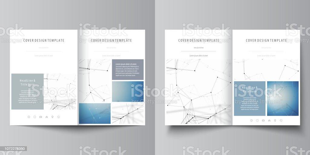 Business templates for bi fold brochure, magazine, flyer, booklet or...