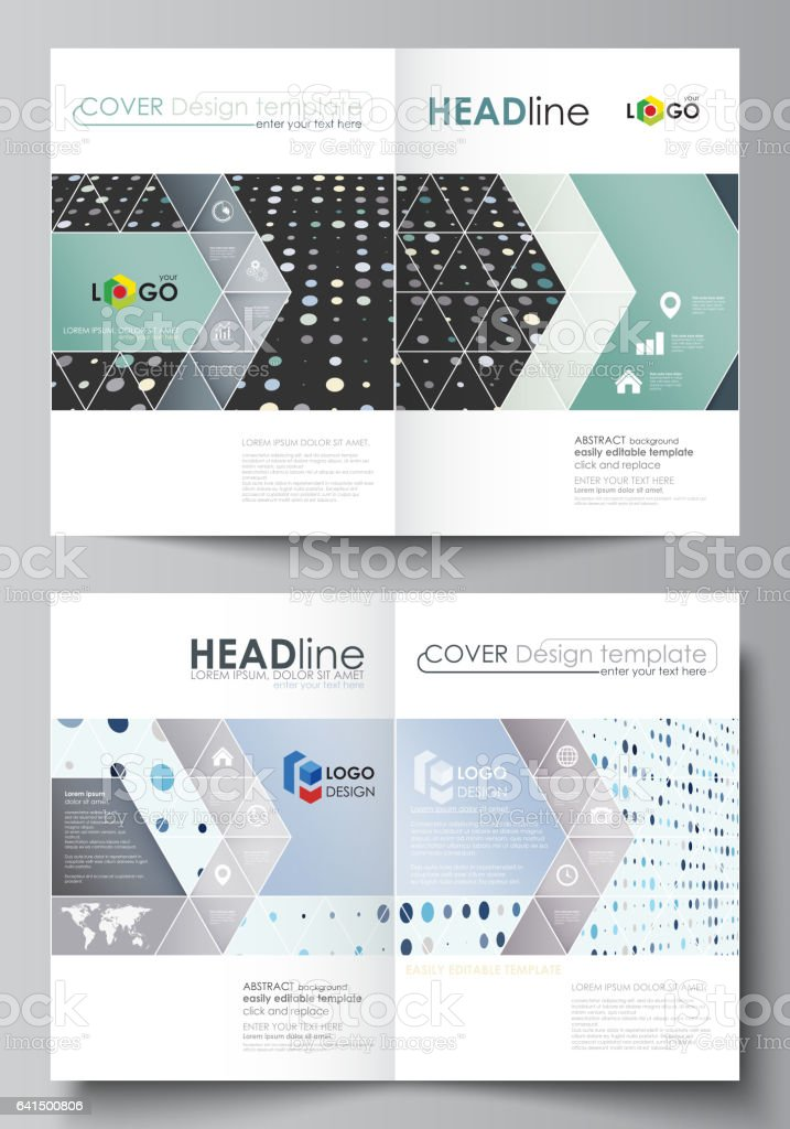 business templates for bi fold brochure magazine flyer cover
