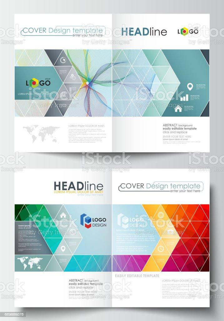 Business Templates For Bi Fold Brochure Magazine Flyer Cover
