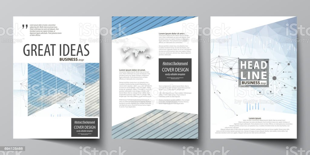 Business Templates For Brochure Flyer Annual Report Cover Design
