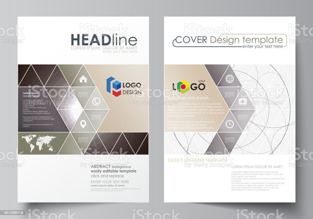 Business Templates For Brochure Flyer Booklet Cover Design Template