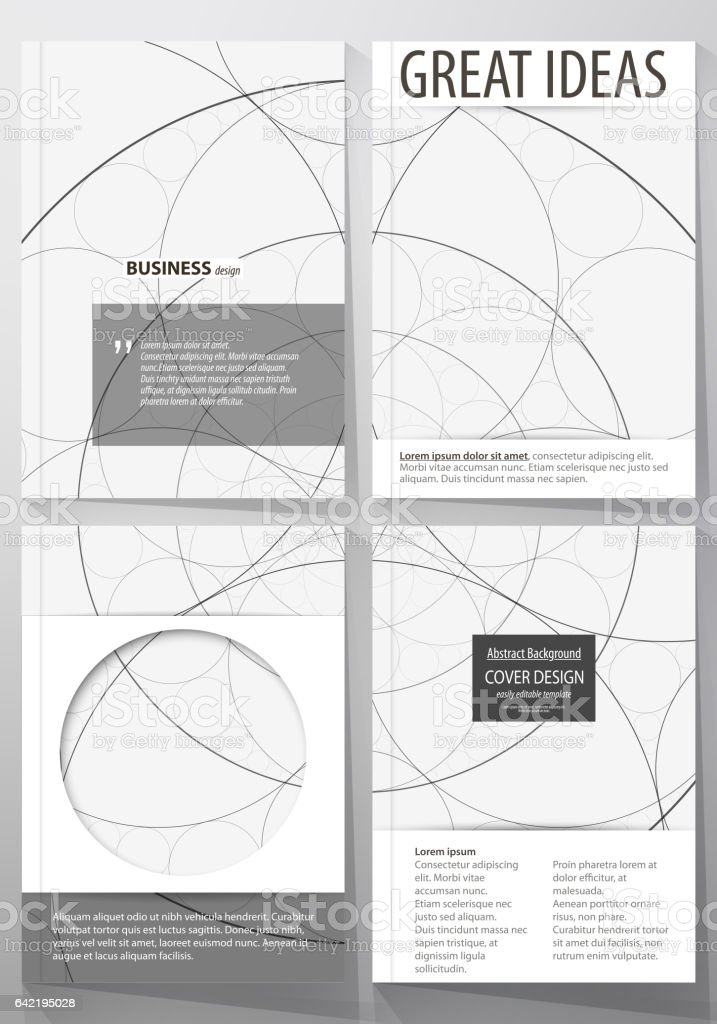Business Templates For Brochure Flyer Booklet Cover Design Template Abstract Vector Layout