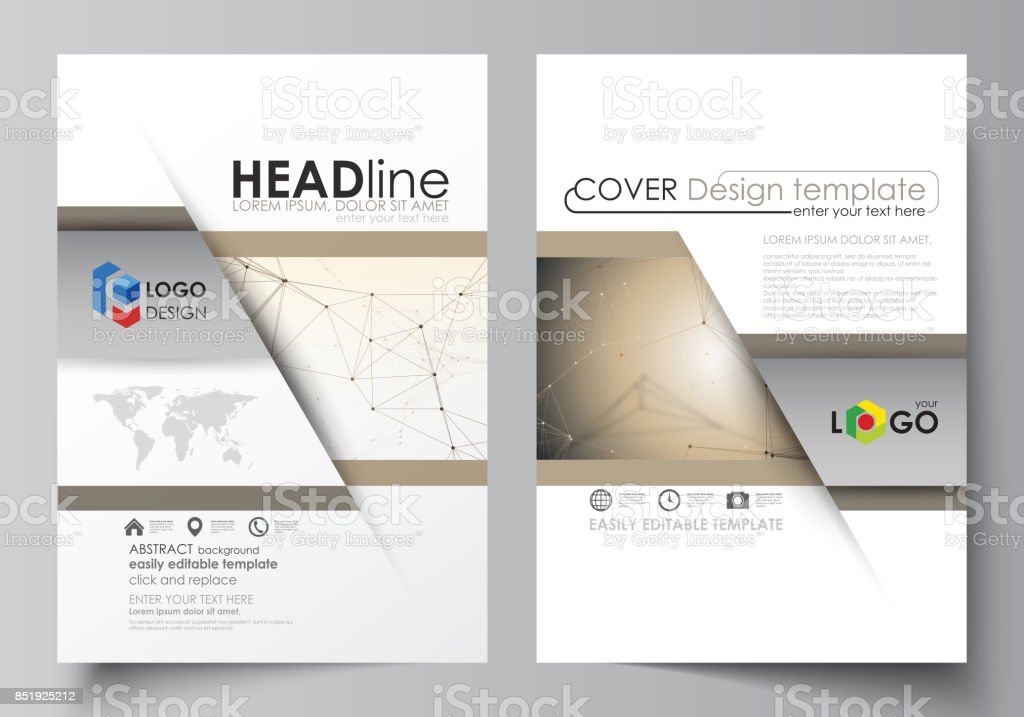 Business Templates For Brochure Flyer Booklet Report Cover Design