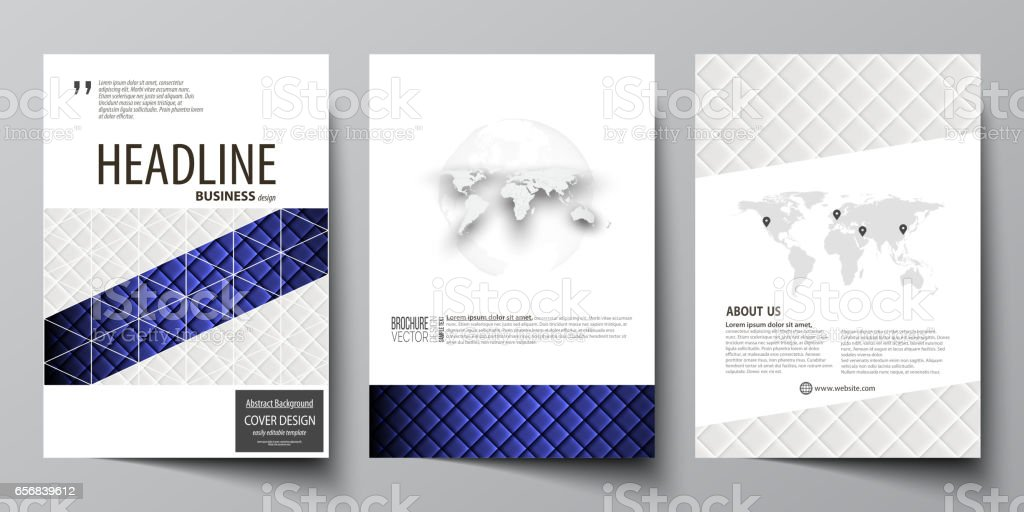 business templates for brochure flyer report cover design template