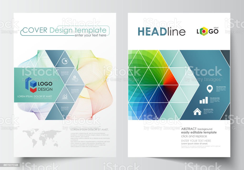 business templates for brochure magazine flyer annual report cover