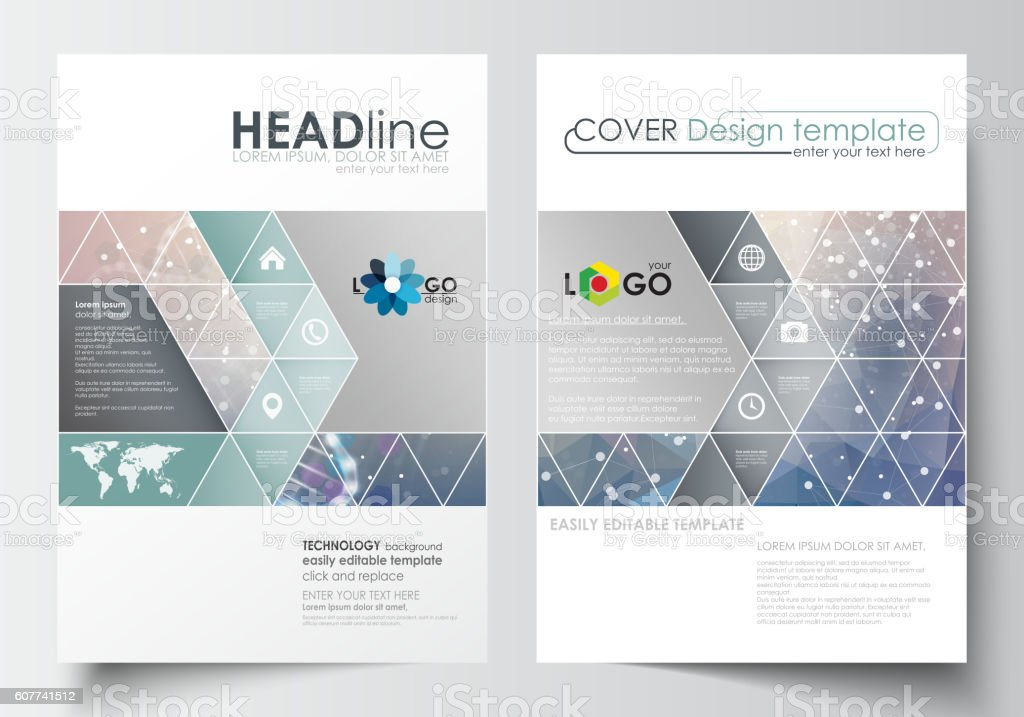 Creative Book Design Template ~ Business templates for brochure magazine flyer booklet