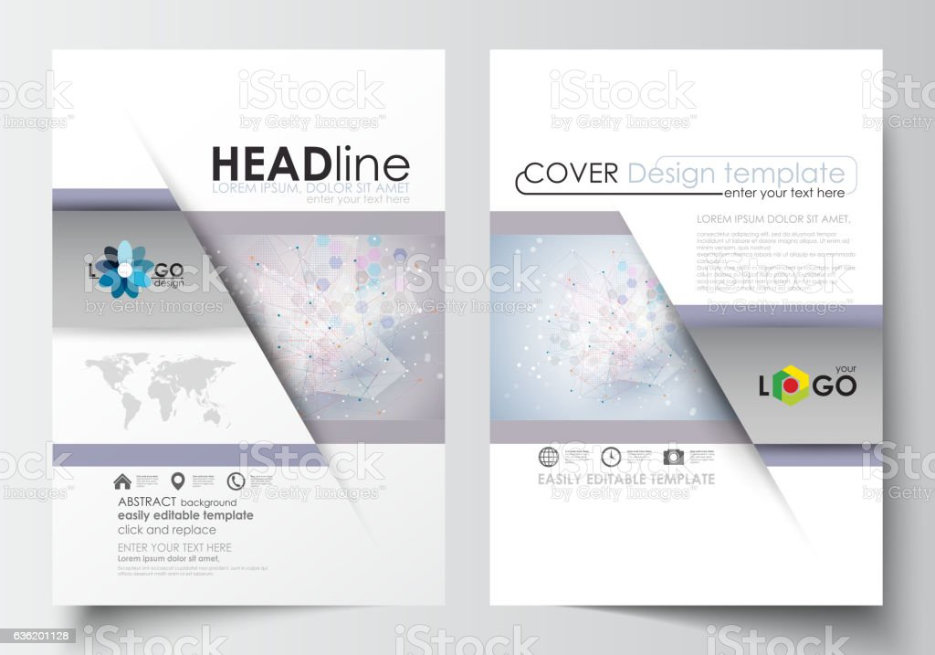 Business templates for brochure, magazine, flyer, booklet or annual...
