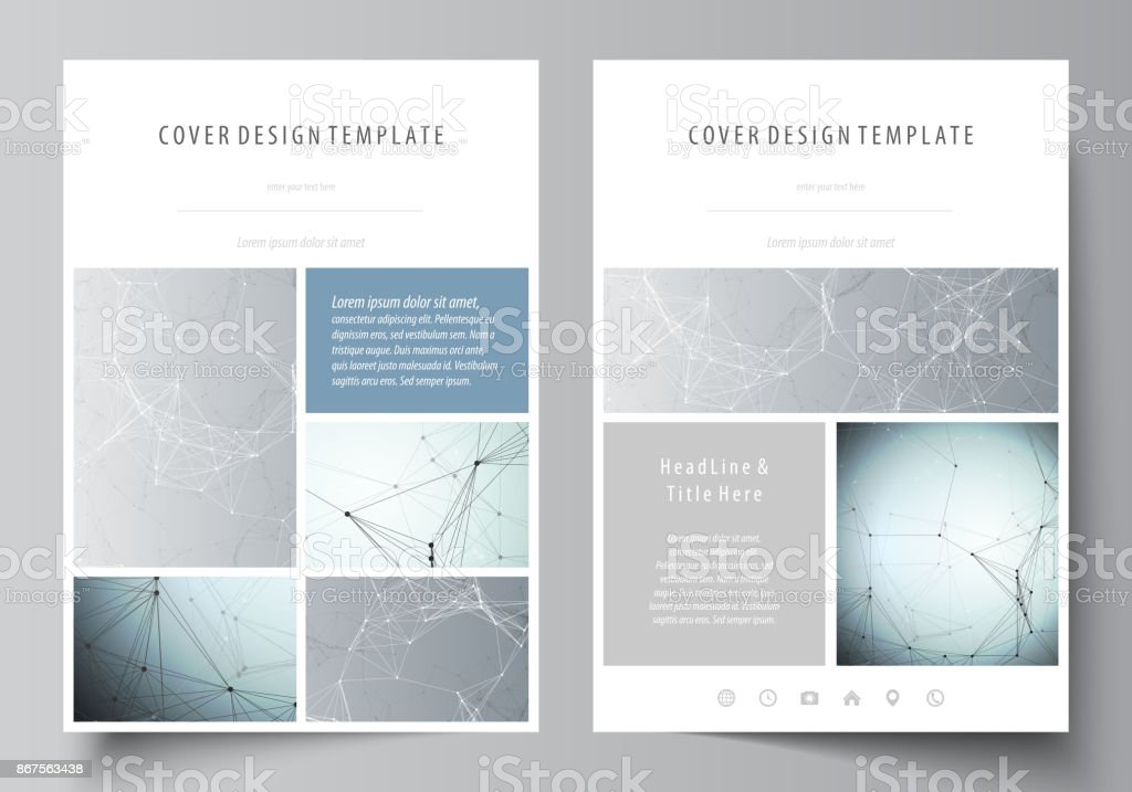 Business Templates For Brochure Magazine Flyer Booklet Cover Design ...