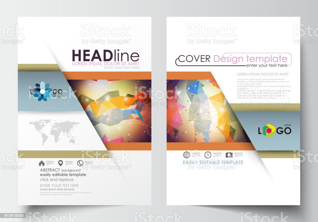 Business Templates For Brochure Magazine Flyer Booklet Cover