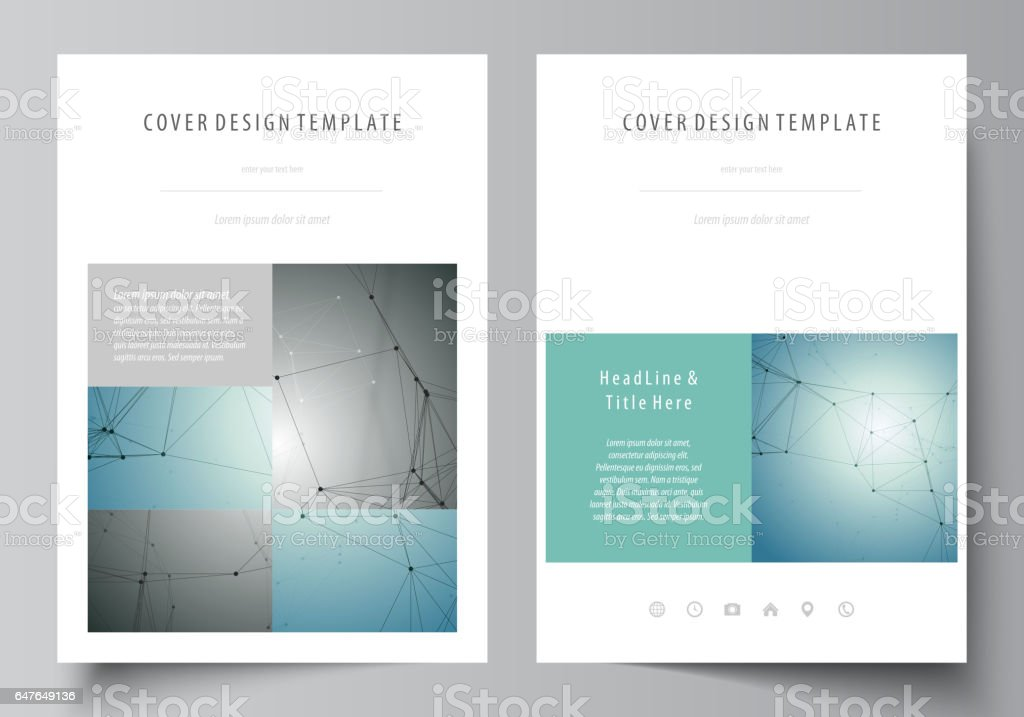 Business Templates For Brochure Magazine Flyer Booklet Report Cover Design Template Vector