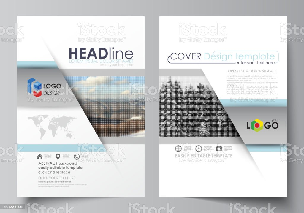 Business Templates For Brochure Magazine Flyer Booklet Report Cover