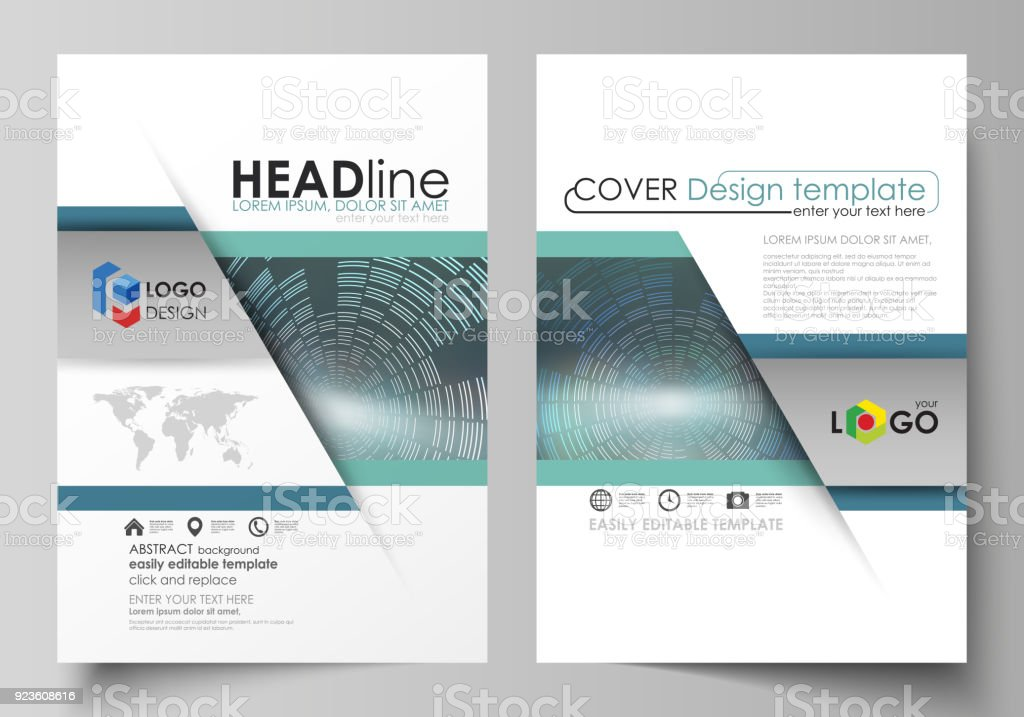 Business Templates For Brochure Magazine Flyer Booklet Report Cover ...