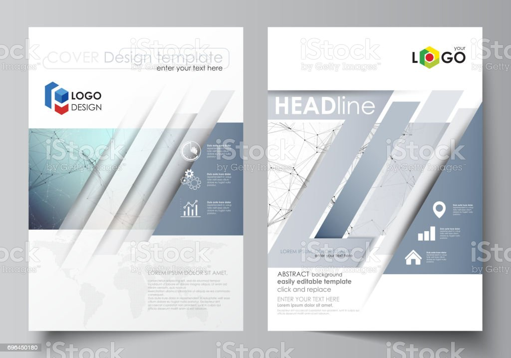 Business Templates For Brochure Magazine Flyer Cover Design Template