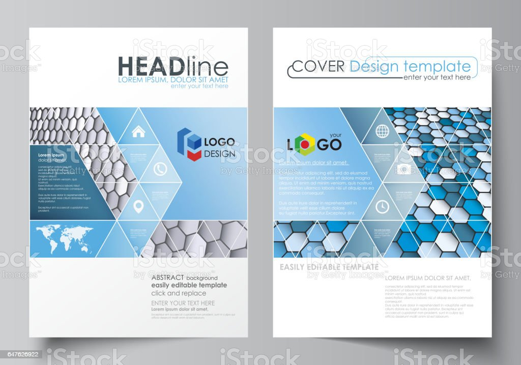Business Templates For Brochure Magazine Flyer Report Cover Design Template Vector Layout In A4