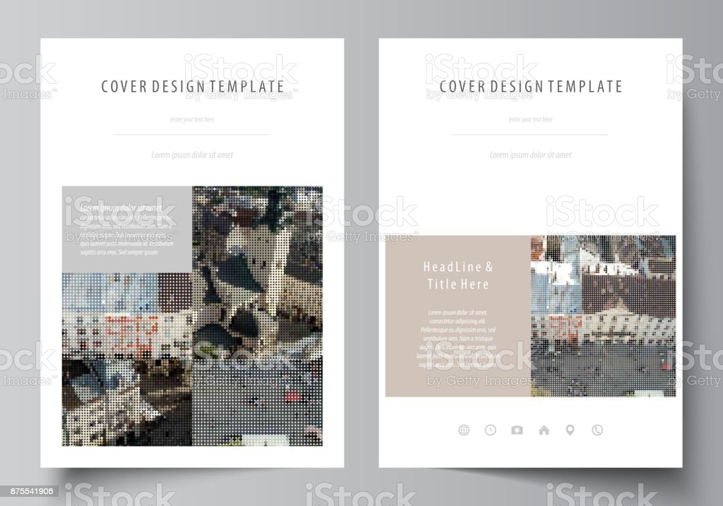 Business Templates For Brochure Magazine Flyer Report Cover Design