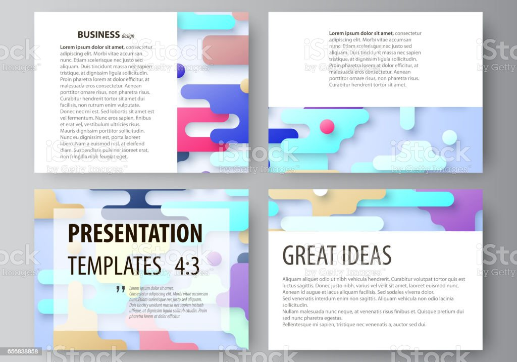 business templates for presentation slides abstract vector design