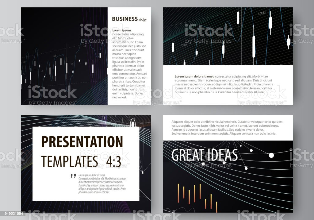 Business Templates For Presentation Slides Vector Layouts Black Color Abstract Infographic Background In Minimalist