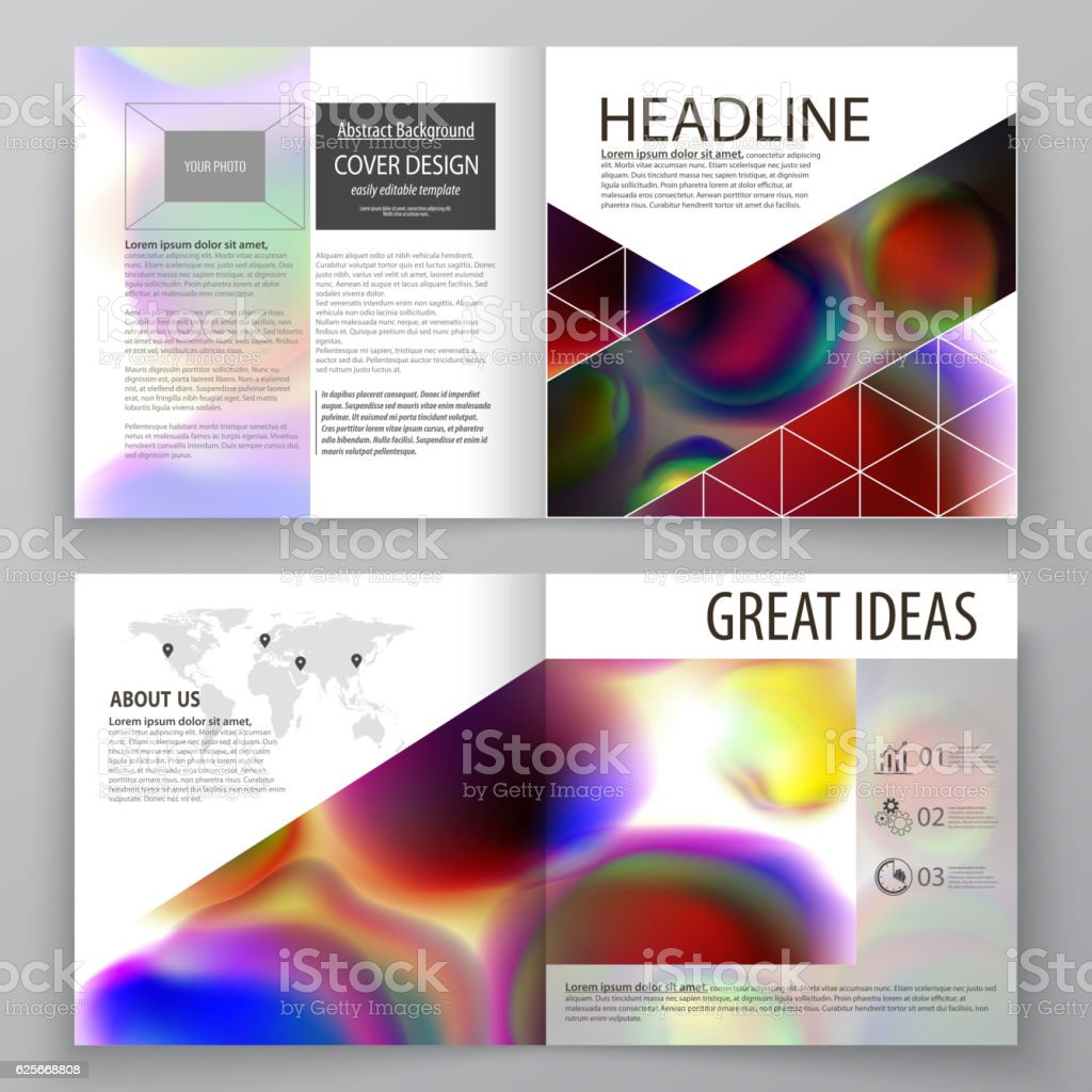 business templates for square bi fold brochure magazine flyer