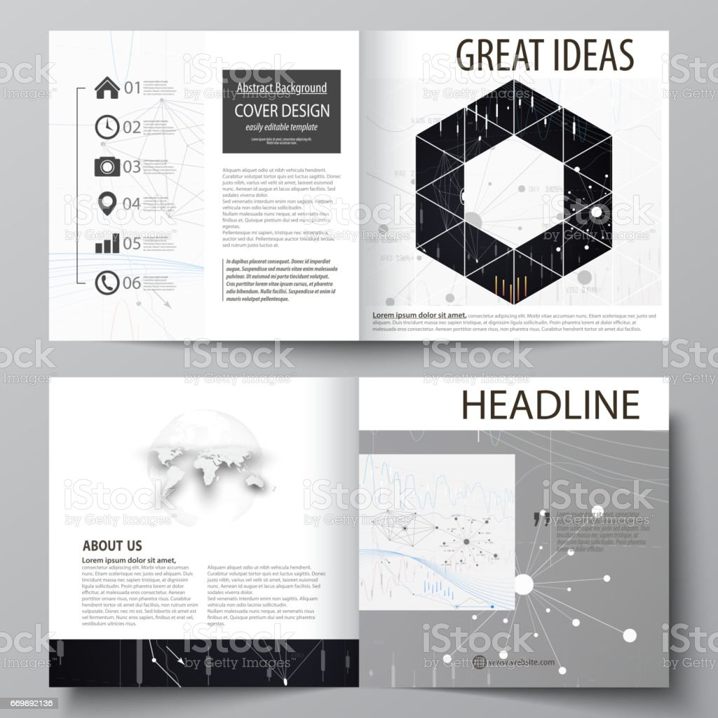 business templates for square design bi fold brochure flyer annual